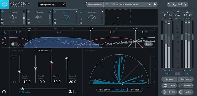 Le plugin de mastering Ozone 8 d'iZotope
