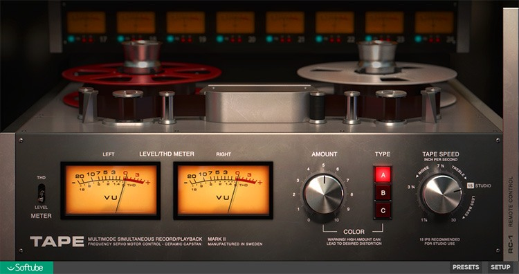 Le plugin de mastering Tape de Softube