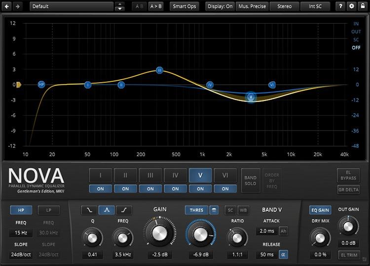 Le plugin de mastering TDR Nova GE