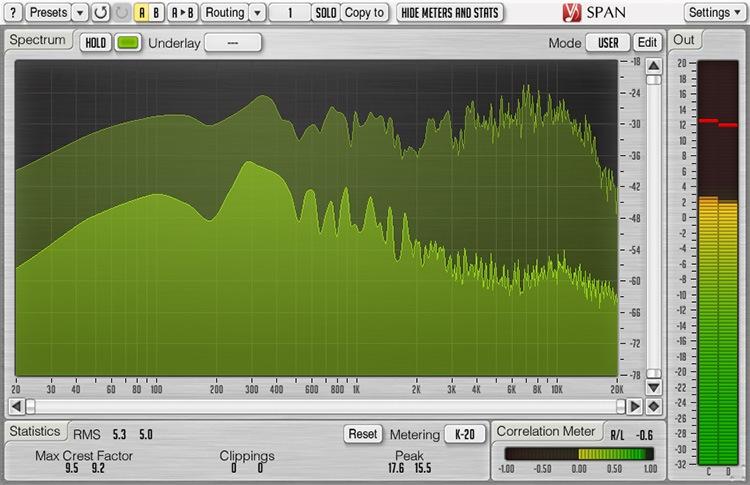Le plugin de mastering SPAN de Voxengo