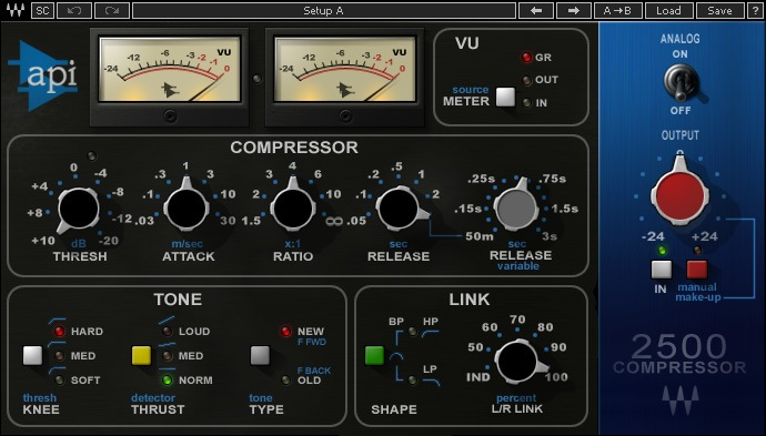 Le plugin de mastering API 2500 de Waves