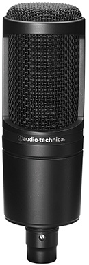 Le microphone statique AT2020 d'Audio-Technica
