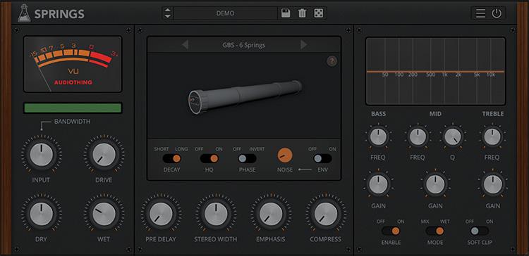 Le plugin Springs d'Audiothing