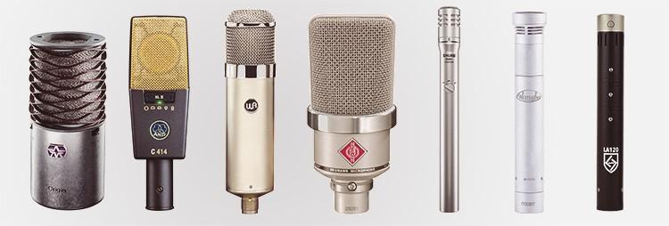 Exemples de microphones statiques (à condensateur)