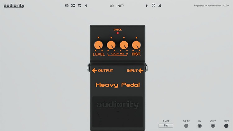 L'interface de Heavy Pedal