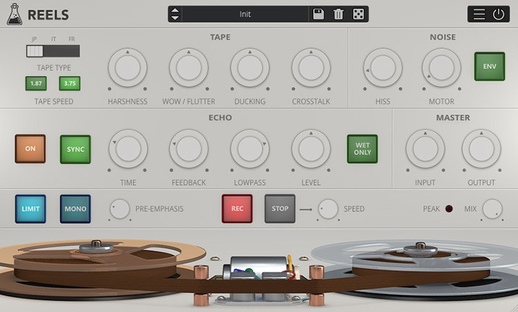 L'interface d'AudioThing Reels