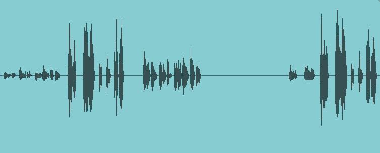 Une piste de voix avec de grandes variations dynamiques