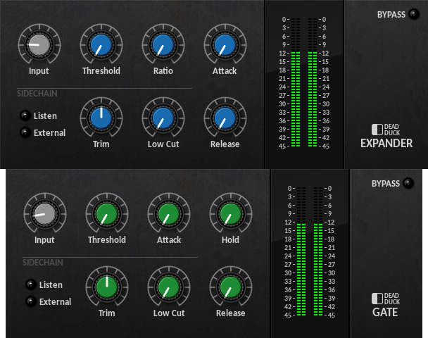 Plugins Gate et Expandeur de Dead Duck Audio