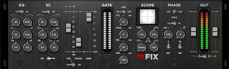 Le plugin de gate/expandeur preFIX de Variety of Sound