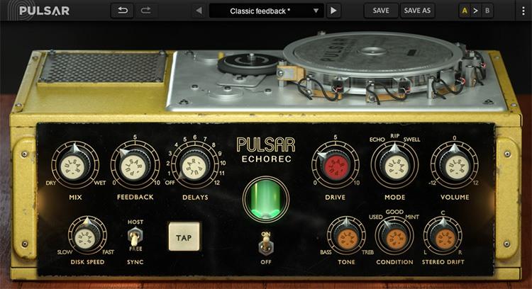L'interface d'Echorec de Pulsar Audio