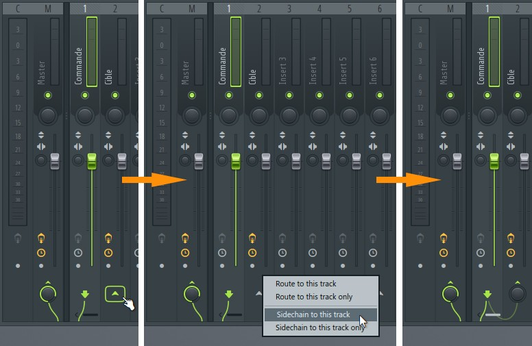 Réglages de sidechain dans FL Studio