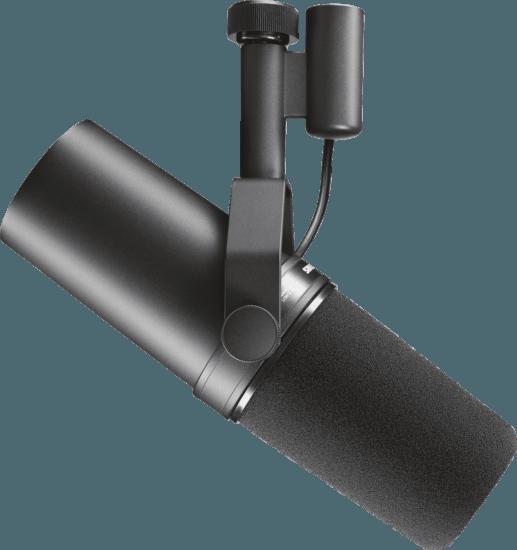 Le microphone pour voix off SM7B de Shure