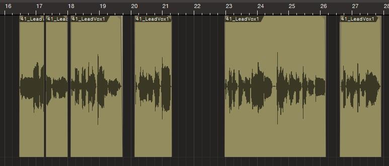 Une piste de voix après édition