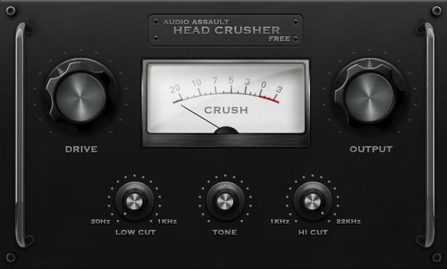 Le plugin de distorsion gratuit Headcrusher Free d'Audio Assault