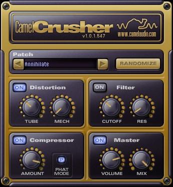 Le plugin de distorsion gratuit CamelCrusher de Camel Audio