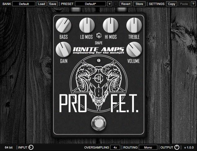 Le plugin de distorsion gratuit ProF.E.T. d'Ignite Amps