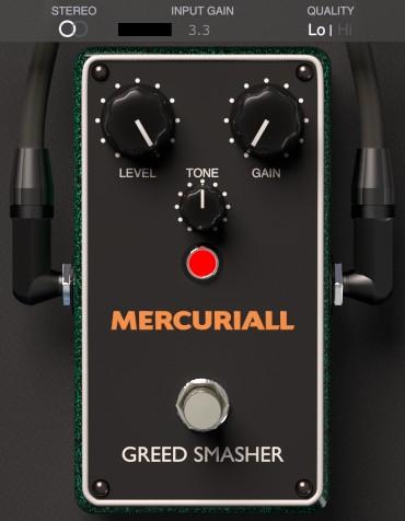 Le plugin de distorsion gratuit Greed Smasher de Mercuriall