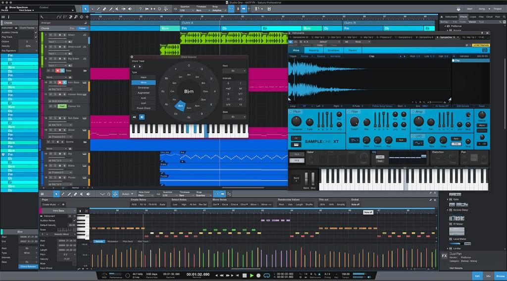 Un exemple de DAW, le logiciel par excellence du home studio