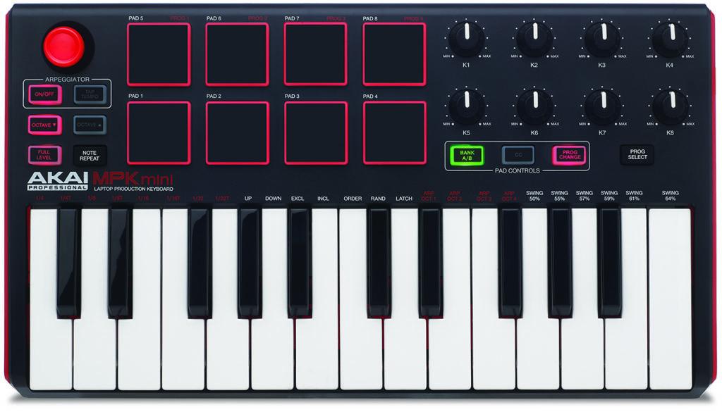 Le clavier MIDI MPK mini Mk2 d'Akai