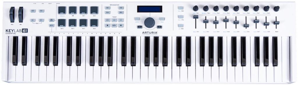 Le clavier MIDI Keylab Essential 61 d'Arturia