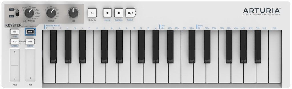 Le clavier MIDI Arturia Keystep