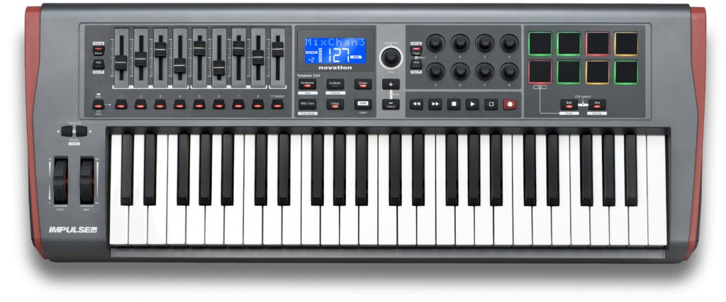 Le clavier MIDI Impulse 49 de Novation