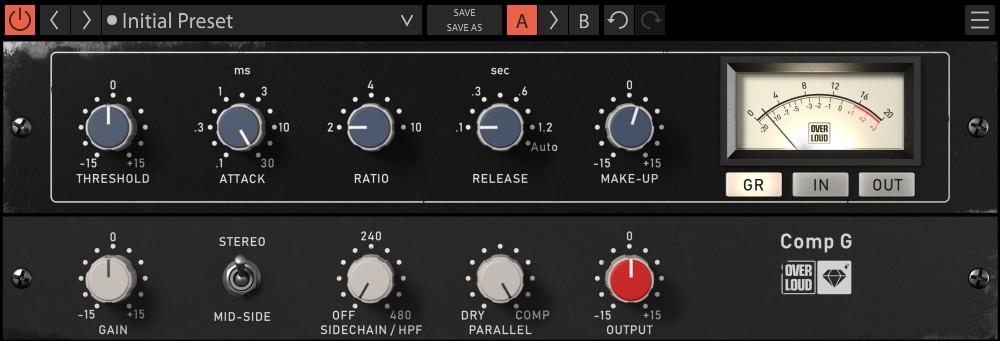Le compresseur de mastering Comp G
