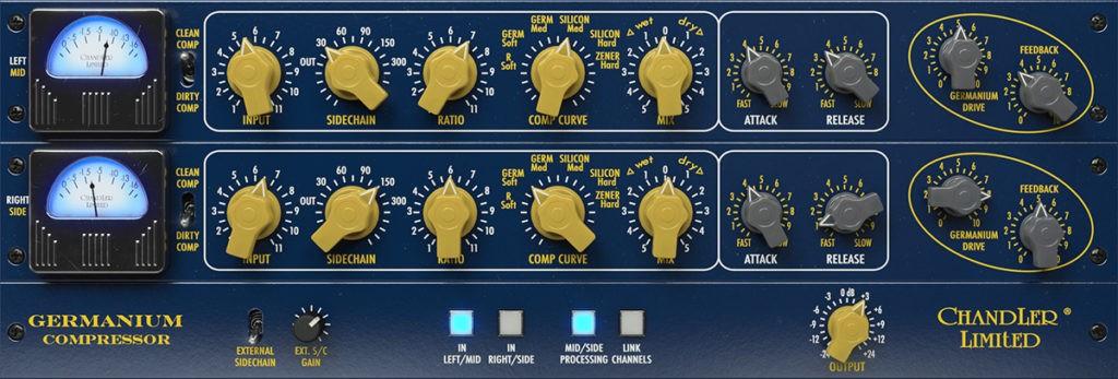 L'interface du Softube Chandler Limited Germanium Compressor