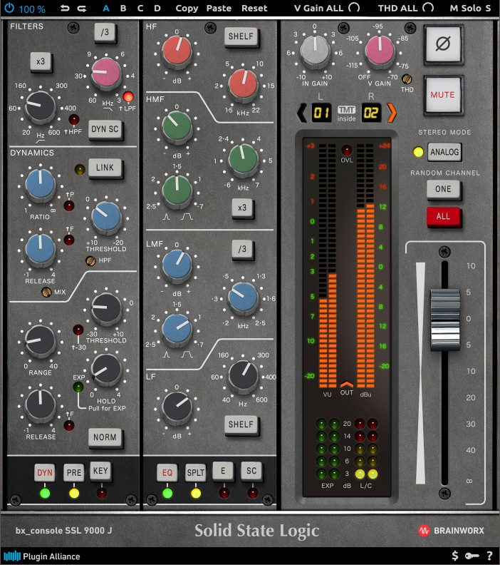 L'interface de bx_console SSL 9000 J