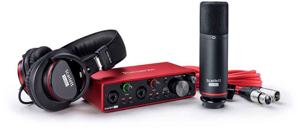 Le pack home studio Focusrite Scarlett