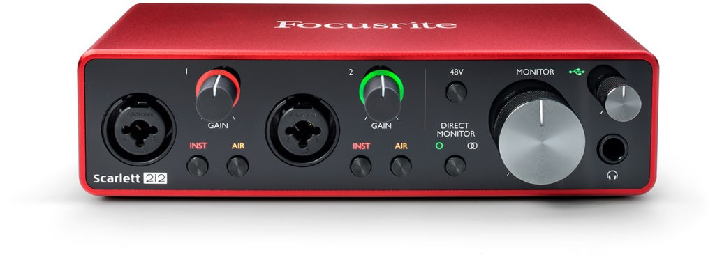 L'interface audio Focusrite Scarlett 2i2