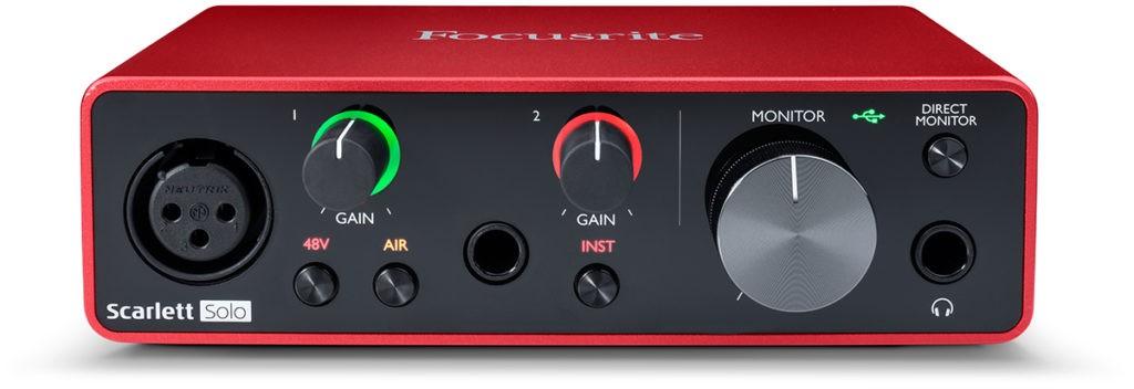 L'interface audio Focusrite Scarlett Solo