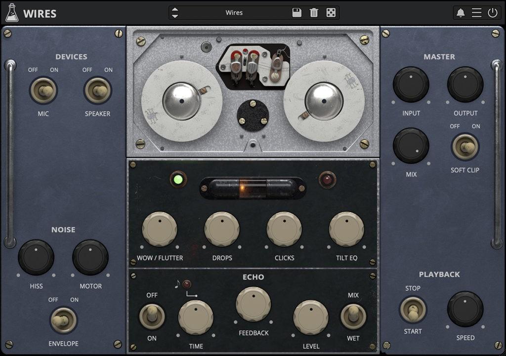L'interface de Wires d'AudioThing