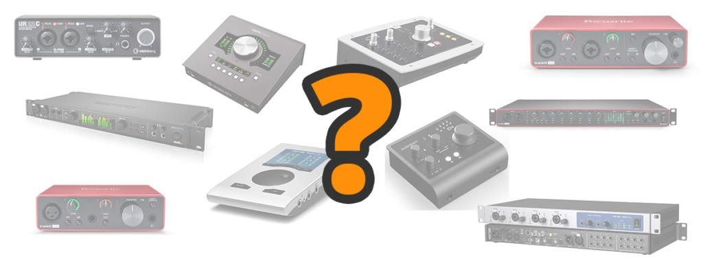 Différents modèles d'interfaces audio