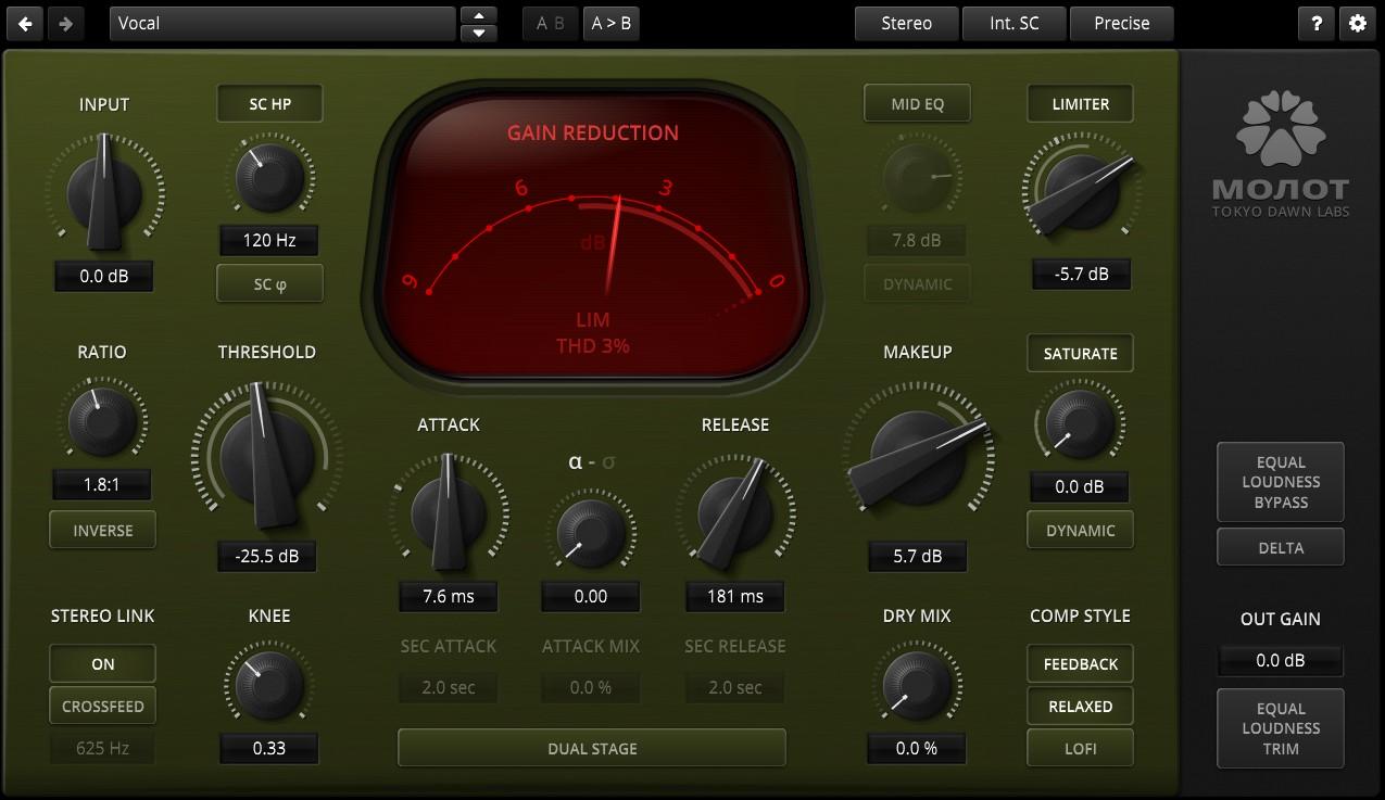 L'interface de Molot GE de Tokyo Dawn Records