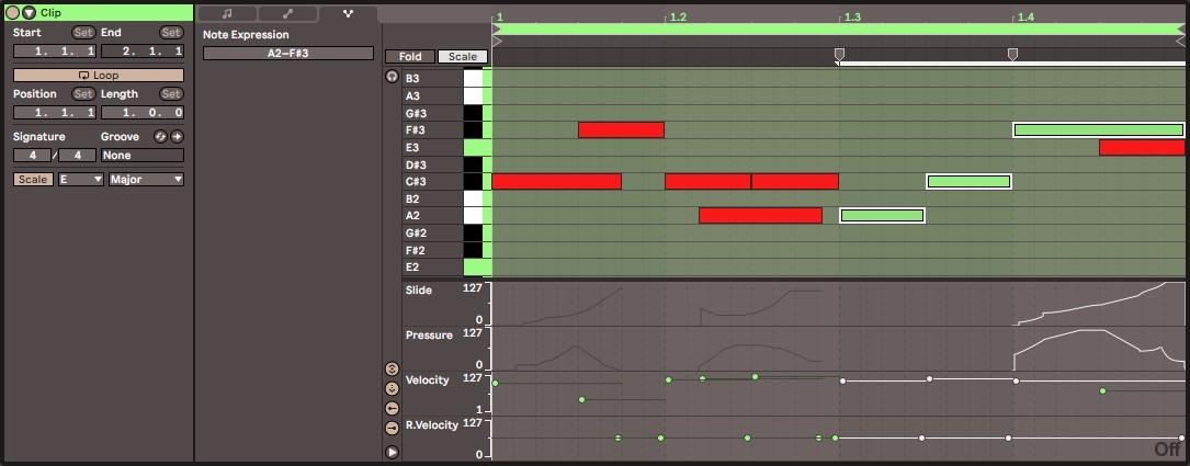 Edition des clips MIDI dans Ableton Live 11