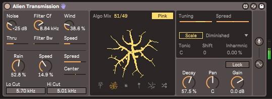 Un instrument Max4Live dans Ableton Live 11