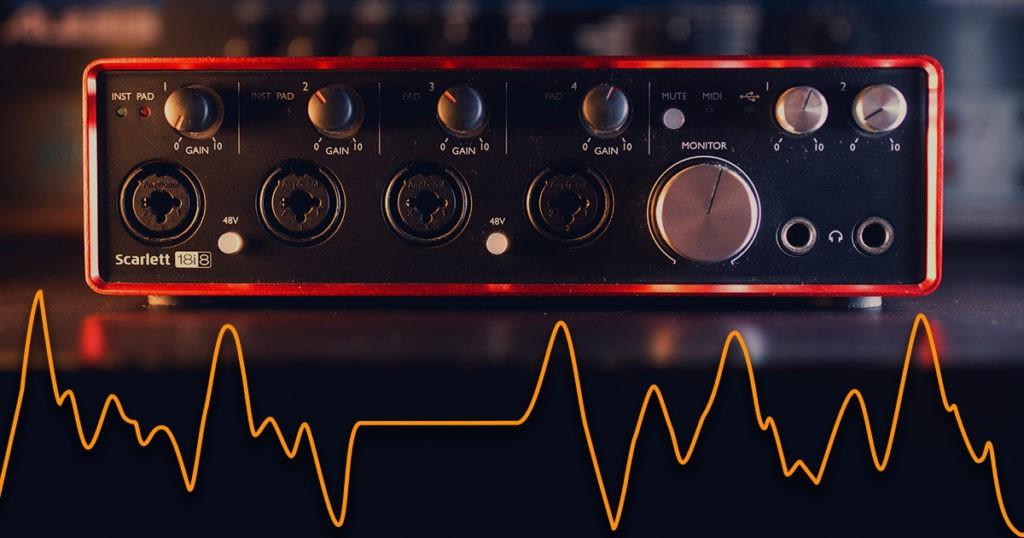 Une interface audio avec des craquements