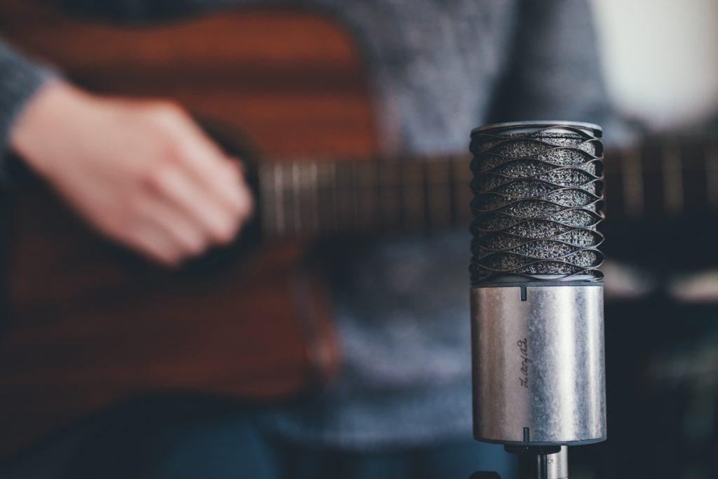 Enregistrement d'une guitare acoustique