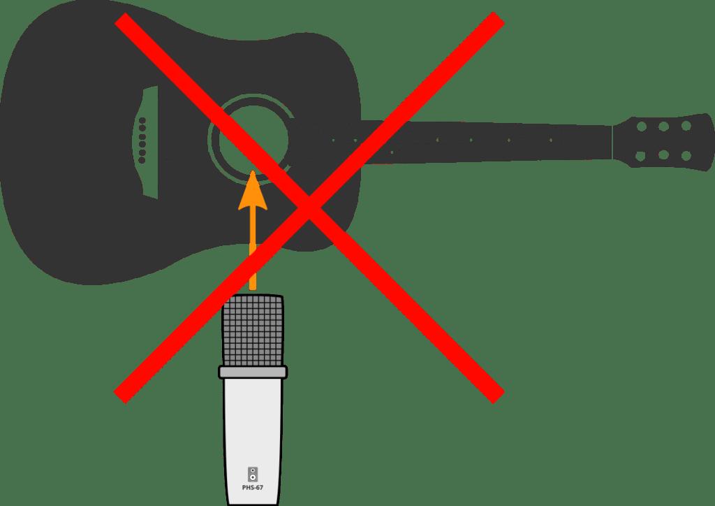 Méthode à éviter pour l'enregistrement de guitare électrique