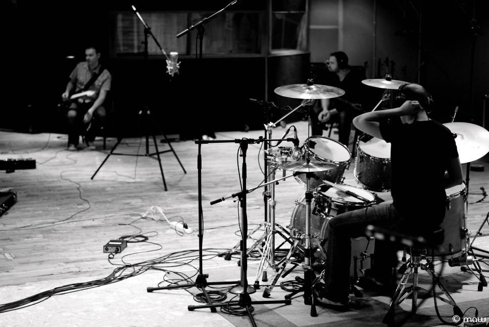 Une batterie en studio