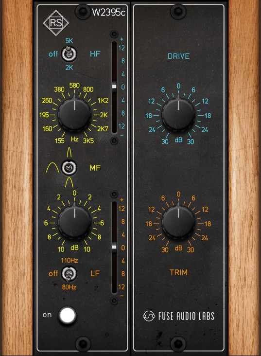 Le plugin d'égalisation RS-W2395C de Fuse Audio Labs