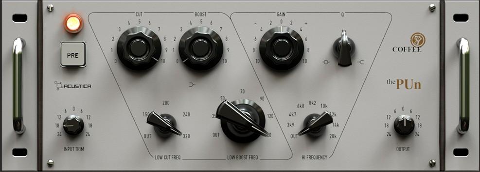 Le plugin d'égalisation Coffee The PUn d'Acustica Audio