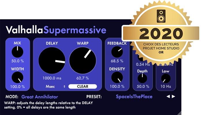 Le plugin gratuit de réverbe Valhalla Supermassive