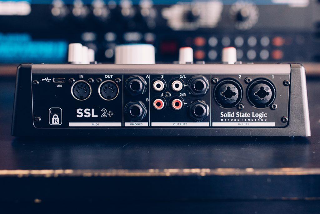 Connectiques arrières de la SSL2+
