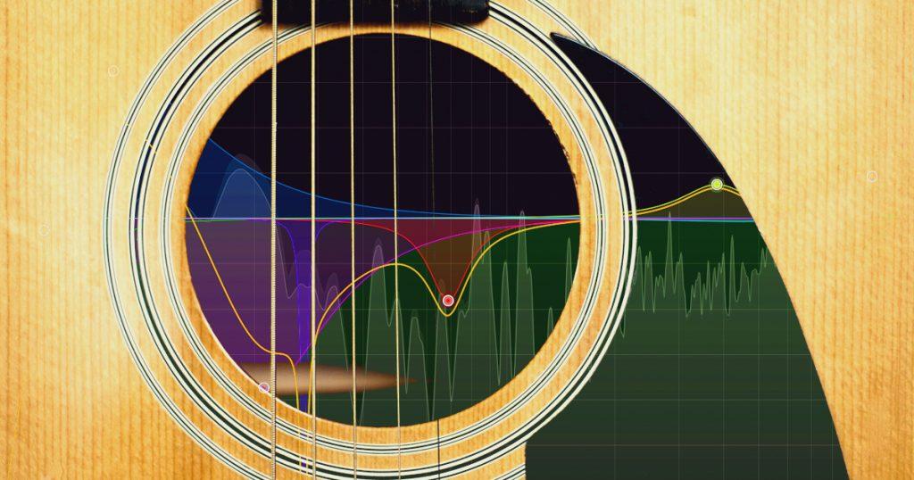 Egaliseur et guitare acoustique