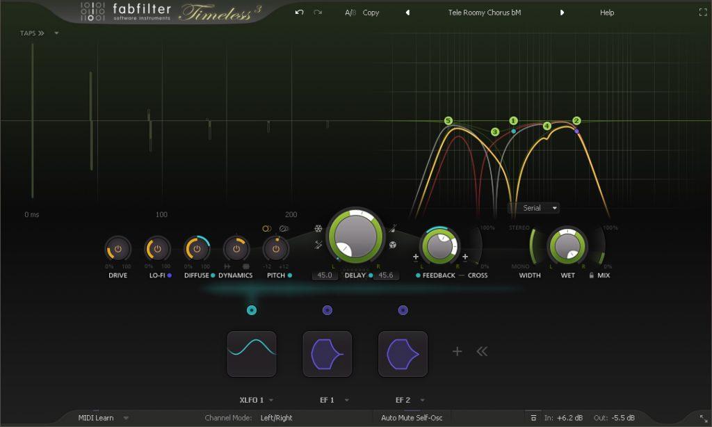L'interface de FabFilter Timeless 3