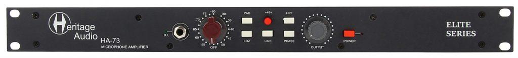 Le préampli micro HA73 Elite de Heritage Audio